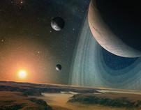 Space art illustration