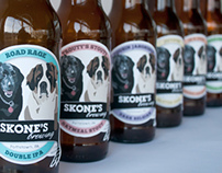 Skone's Brewing Beer Labels