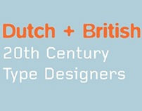 Dutch+British Type Designers