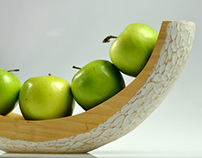 Hand Carved Fruit Bowl