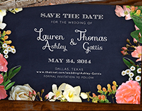 Save the Date Postcard Design
