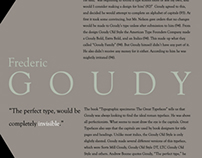Frederic Goudy Type Poster