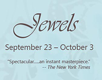 """Jewels"" banner for Houston Ballet website"