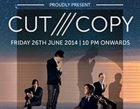 CUT COPY Concert's Poster