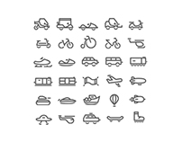 Transportation Pictogram Set