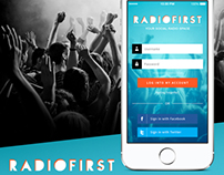 RadioFirst - Mobile App (Concept)