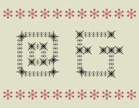 ORGANZA DISPLAY Vector font