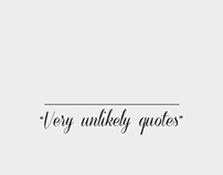 V.U.Q. - Very Unlikely Quotes