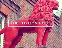 Red Lion Hotel Vintage Poster