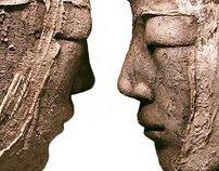 sculptures terre enfumée