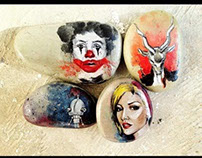 miniatures on stone