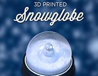 Three 3D Printers, One 3D Printed SnowGlobe