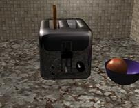 3D Toaster Model