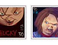 Movie Monster / Villain Stamp Series