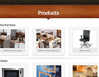 Furniture products page for facebook tab