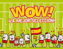 """Campaña """"Wow!, la mejor selección"""" en PC City Spain."""