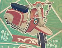 Lambretta reto poster