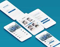 Hair Dresser App UI Free PSD Download