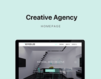 Landing Page For Interior Design Agency