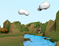 Low Poly Landscape (first ever attempt).