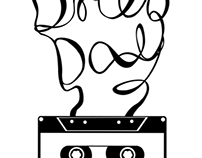 Swirly Cassette Tshirt Design (2011)