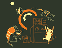 Playing Armadillos Tshirt Design (2012)