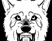 Snarling Wolf Tshirt Design (2013)