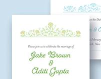 Jake & Aditi Floral Wedding Suite