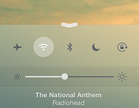 Redesigned: iOS 7 Control Center