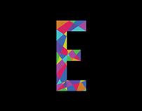 Letter animation: E