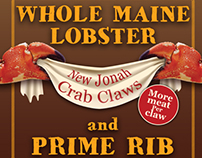 Lobster, Jonah Crab Claws and Prime Rib