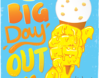 Kiwi FM is Big Day Out poster