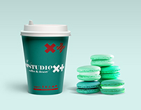 """Studio x+"" coffee shop Corporate Identity"