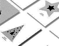 minimal B&W xmas cards