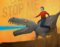 """Never gonna stop me"" illustration & poster"