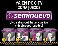 """Creatividad Zona Juegos """"Seminuevo"""" en PC City"""