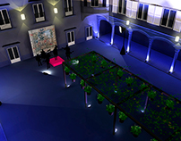 Patio 3D View for a private concert proposal