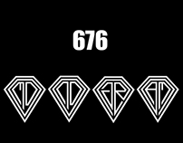 676 Different Monogram, Logo D ( DIAMOND )