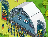 Esquire-stock Music Festival Map Illustration