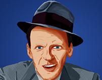 Pintura Digital - Frank Sinatra