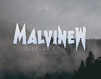 MalvineW Display Font