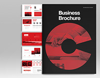 Black Brochure Layout
