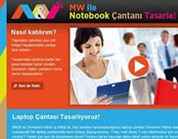 M&W ile Notebook Çantanı Tasarla - Mikro Site (2013)