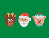 Freebie Flat Holiday Icons