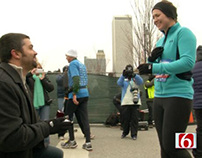 TV News - Finish Line Marriage Proposal