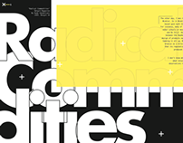 Radical Commodities (Editorial Design)