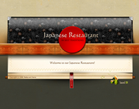 Japanese Restaurant Dynamic Flash Template