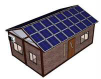 Eco-Box (Modular House with Fold-Up PV roof)