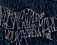 Lettering poema