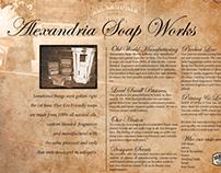 Alexandria Soap Works: Branding and Literature.